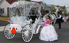 Cedar Knoll Farm's Cinderella Carriage for a Quinceannera in Hartford, CT http://www.cinderellacarriageCT.com