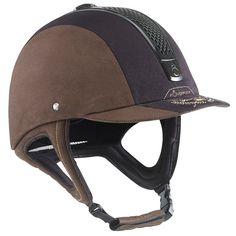 54,95€ - EQUITATION Equitation - Casque d'équitation C700 Jump marron/noir - FOUGANZA