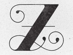 Typography Letter Z Design