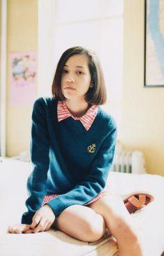 Kiko Mizuhara #fashion #sweater #APC