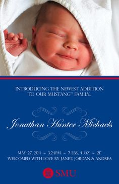 """SMU baby announcements! This is one """"sophisticated script."""""""