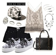 """""""Platform Sneakers - Tricky Trend"""" by gabriele-bernhard ❤ liked on Polyvore featuring Boohoo, Superga, Zara, Forever 21, Topshop, Betsey Johnson, TrickyTrend and platformsneakers"""