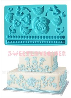 1pcs Silicone Mold Baroque Fondant and Gum Paste by sweetloveqiner, $15.18