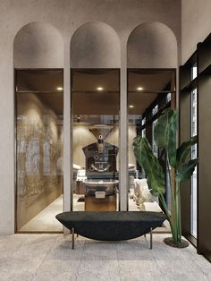 Villa Design, Cafe Design, House Design, Cafe Interior, Office Interior Design, Futuristic Architecture, Interior Architecture, Entrance Design, Hospitality Design