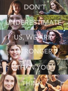 Hermione Granger, Katniss Everdeen, Clary Frey, Annabeth Chase, Teresa Agnes, and Tris Prior