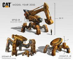 Construction Mechs by eddie-mendoza.deviantart.com on @DeviantArt