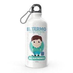 Termo - El termo del mejor ingeniero electrónico, encuentra este producto en nuestra tienda online y personalízalo con un nombre. Water Bottle, Drinks, Engineer, Store, Crates, Deserts, Drinking, Beverages, Water Bottles