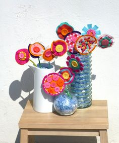 ATELIER CHERRY: Buquê de flor (de feltro!)