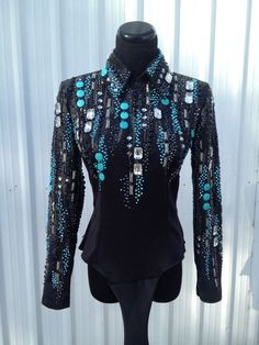 Love the turquoise - horsemanship top
