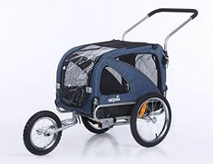 Sepnine 2 in1 medium pet dog bike trailer bicycle carrier and stroller jogger 10201 blue * Details can be found by clicking on the image.