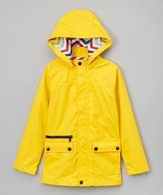 Another great find on #zulily! Yellow Raincoat - Boys by Urban Republic #zulilyfinds