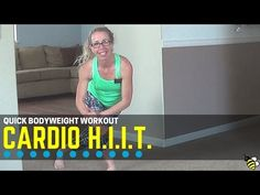 Cardio Quick HIIT - Bodyweight-Only Workout Follow along in real time with this fast and fun beginner-friendly H.I.I.T. workout, designed to work your major muscle groups as well as your heart and lungs!  Simple bodyweight-only cardio and balance exercises are performed in short intervals with a rest between.  Exercises include lots of plyometric jumping, so please use caution if you have limitations in that area.