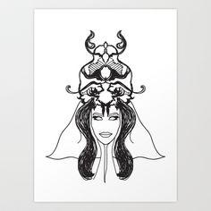 deusa Art Print by frtortora
