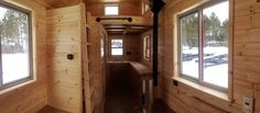 There's also a storage loft, storage under the couch, under the kitchen countertop.#TinyHouseforUs