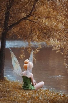 Disney Cosplay Tink facing the lake