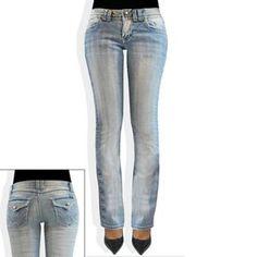 Angels Rhinestone Bootcut Jeans