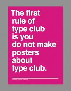 Type Club rules