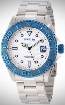 Verras vader met dit schitterende horloge van Invicta! Helemaal van staal en afgewerkt met een mooie blauwe rand en kroon. Hij geeft de datum weer en is tot 300 meter waterdicht! Het horloge heeft een automatisch uurwerk. U hoeft dus nooit meer de batterij te verwisselen.  En als extra-tje voor vader, een luxe opbergkoffer voor zijn andere horloges. Hij is zwart en je kan er 3 horloges in opbergen!    Zo verras je vader op een wel heel leuke manier.