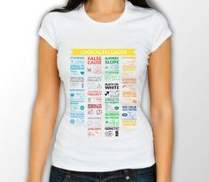 Logical Fallacies Womens, T-Shirt – Geek Me Tees