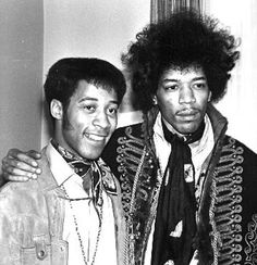 "Jimi Hendrix with ""King"" George Clemmons (King George Discovery) - Stockholm, Sweden, (1967)."