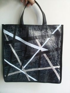 Boodschappentassen - boodschappen tas, recycling plastic - Een uniek product van Textile-meeting-point op DaWanda