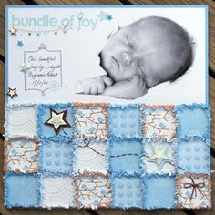 How to create this adorable newborn page...