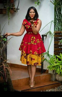 New Latest Short Ankara Styles For September In this month of September, we are celebrating African queens rocking the short Ankara dress trend. Latest African Fashion Dresses, African Print Dresses, African Print Fashion, Africa Fashion, African Dress, Ankara Fashion, African Prints, African Fabric, African Dashiki