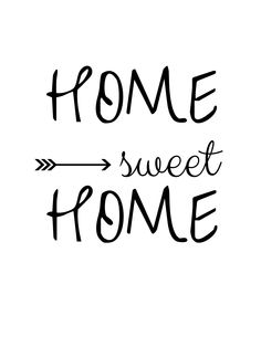 Home sweet home | Napis | do pobrania