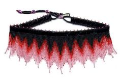 Beaded Fire Fringe Necklace Choker Pattern & Kit. (Click on the picture to see this item on our website). $17.95