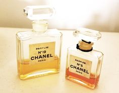 chanel N°5 and  chanel N°19 - the original #19 was better than the reissue