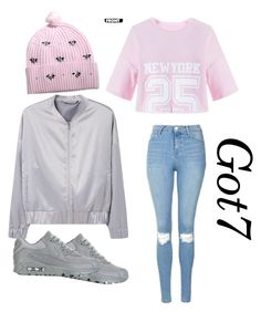 """got7 fly outfit"" by nina-mat on Polyvore featuring MANGO, Topshop, NIKE and Markus Lupfer"