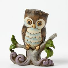 Jim Shore Owl on Branch Mini