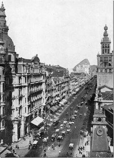 Avenida Rio Branco - 1919. Rio de Janeiro, Brasil