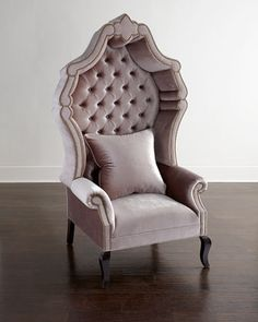 Opulent and prestigious is this Antoinette tufted chair with its Hollywood style regency design!