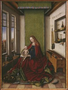 Virgin and Child with a Book, 1433, Jan van Eyck