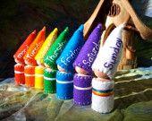 Days of the Week Rainbow Gnomes Waldorf Inspired calendar set storytelling