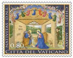 Vatican City nativity stamps