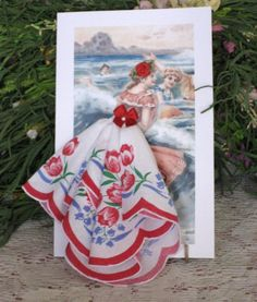 Summer Fun Keepsake Hanky Card by onceuponahanky on Etsy, $10.00