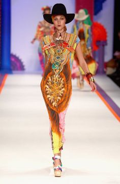 Day 1 of Australian Fashion week was filled with bright colours, like this tribal sensation from Camilla's Spring/Summer 2012-2013 collection.