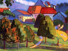 Gabrielle Munter - 1908 Outskirts of Murnau