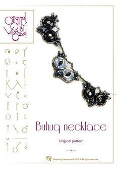 Sicke Tutorial / Muster Buhuq Halskette mit Arcos und Minos Perlen Perlen Anleitung im PDF-Format – nur zum persönlichen Gebrauch