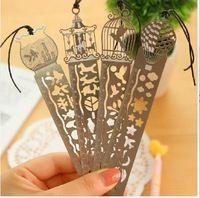 Estilos de moda bookmarks Vintage Metal marcador definido lembranças de casamento marcador de livro