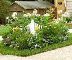 Tiny Corner Garden Plan I want to look at this rather than that ugly boat the neighbors have in fron Corner Landscaping, Driveway Landscaping, Landscaping Ideas, Driveway Ideas, Backyard Pergola, Fence Ideas, Pergola Kits, Outdoor Plants, Outdoor Gardens
