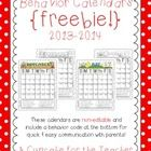 These calendars are for the 2013-2014 school year.  Use them to track student behavior!  Included are 12 *NON-editable* calendars {July 2013 to Jun...