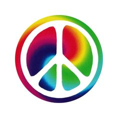 Peace Sign Over Swirly Rainbow - Button / Pinback or Magnet Button Image, Pin Button, Surface Studio, Round Magnets, Hand Stamped, Etsy Store, Refrigerator Magnet, Usps Shipping, Rainbow