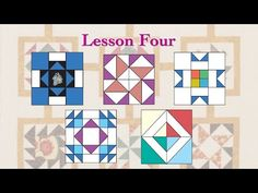 """(56) Quilt Tribe April """"Lesson Four"""" - YouTube"""