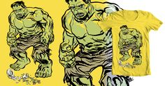 Hulk Shirt on Threadless. Vote http://www.threadless.com/Hulk/hulk-smash-vase-2/