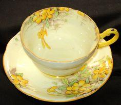 beautiful floral teacup and saucer