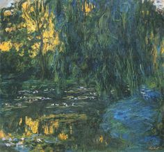 Claude Monet, Water-Lily Pond and Weeping Willow - Water Lilies (Monet series) - Wikipedia
