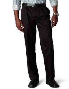 34W x 32L Dockers Mens Jean Cut Straight-Fit Pant discontinued Black